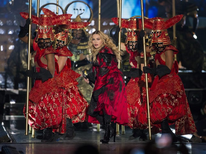 Madonna performs during her Rebel Heart Tour at Gila