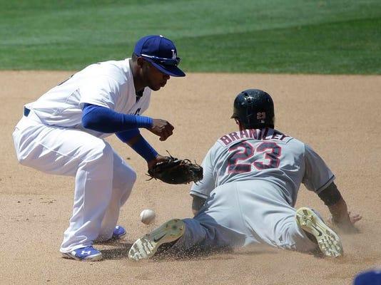 Indians Dodgers Baseball