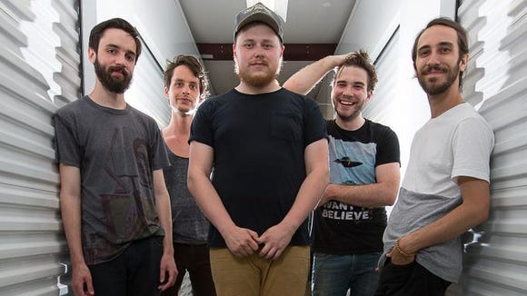 Fiancé -- Jeff Marvel, Tyler Yoder, Brian Bruce, Andrew Fusca and Sam Nobles (left to right) -- will be one of two Delaware acts playing Firefly Music Festival next month.