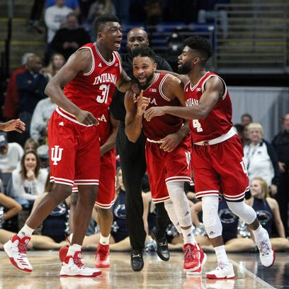 Indiana Hoosiers guard JamesBlackmon Jr (second from