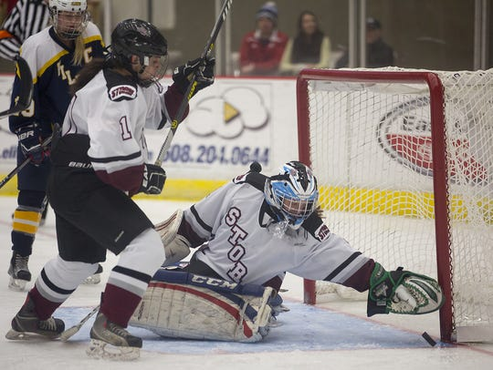 Goalie Chloe Westberg and the Central Wisconsin Storm
