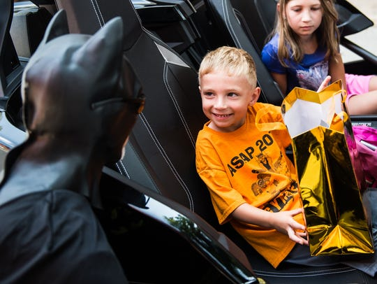 Noah Prinz, 5, of Harrisburg got to meet Batman after