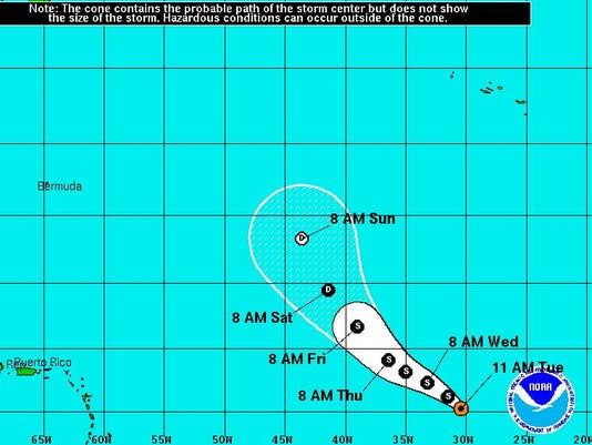 Tropical Storm Lisa