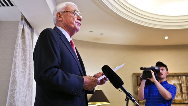 'The report paints a disturbing picture,' said J. David Grissom, chairman of the university board of trustees, as he read from a prepared statement to the media Thursday afternoon after receiving the forensic audit of UofL foundation.