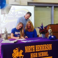 North Henderson senior Jonnie Petree signed to play college softball on Friday.