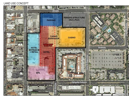 The site plan for the Vision Agua Caliente Master Plan