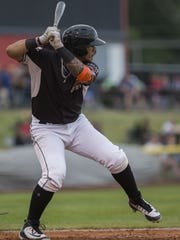 Volcanoes outfielder Diego Rincones is third in the