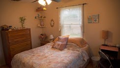 The larger of two bedrooms that Marie Fiorvante of