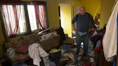 Longtime Toms River resident Larry Hecker at his condemned