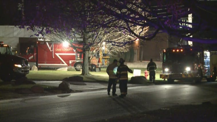 Emergency crews respond to a possible hazmat situation