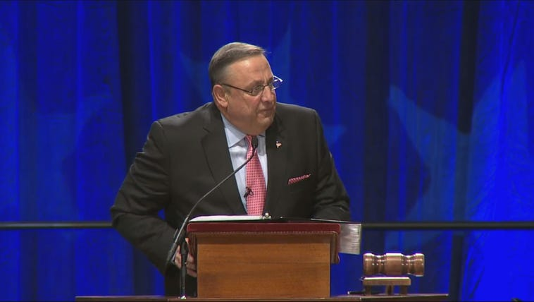 Gov. LePage talked about the campaign and the next