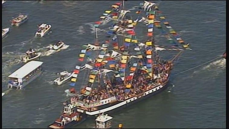 Aerial view of the Gasparilla Pirate Invasion!
