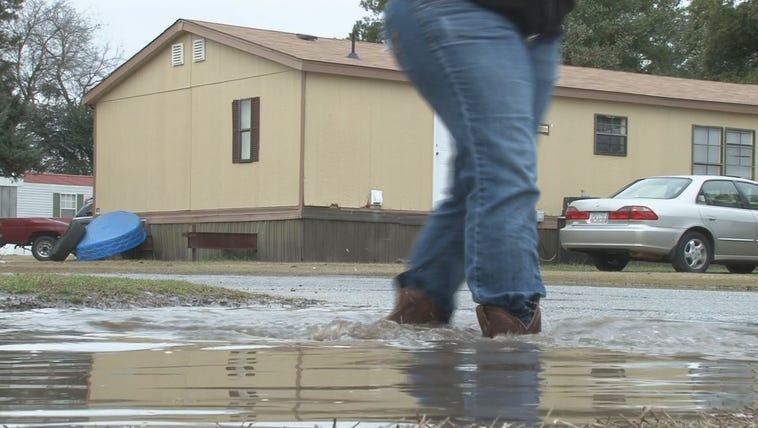 Bonaire neighborhood flooded