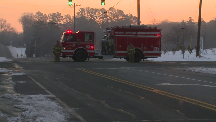 Standoff blocks part of Highway 73 in Cabarrus County.