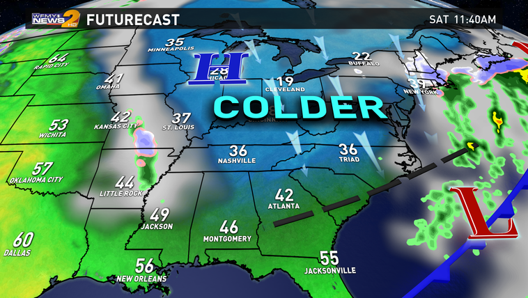 Futurecast for this weekend.