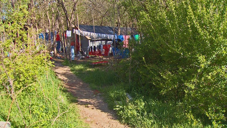 Fort Worth officials dismantled a homeless camp on