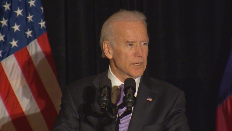Joe Biden speaks at the Uptown Dallas Ritz-Carlton