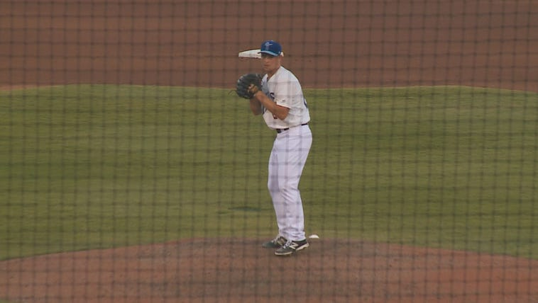 Michael Bowden prepares for his fifth strikeout in
