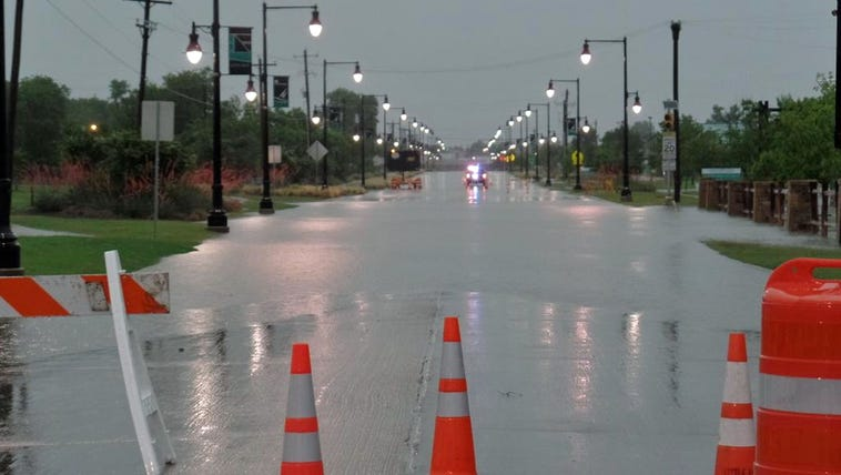 Lobo Lane in Little Elm was closed Saturday morning