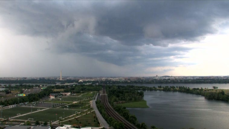 Storms rolling through DC