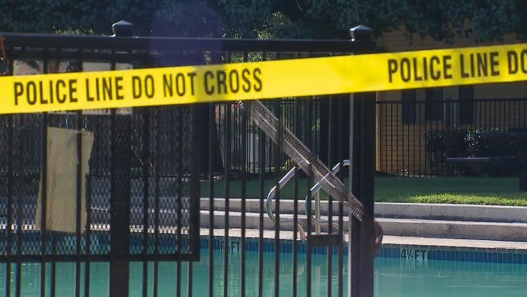 A pool at an Irving apartment complex was closed off