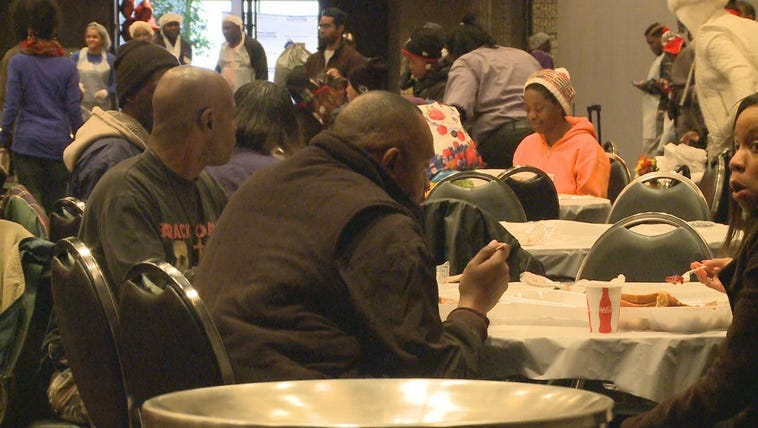 Thousands of people were provided Thanksgiving meals