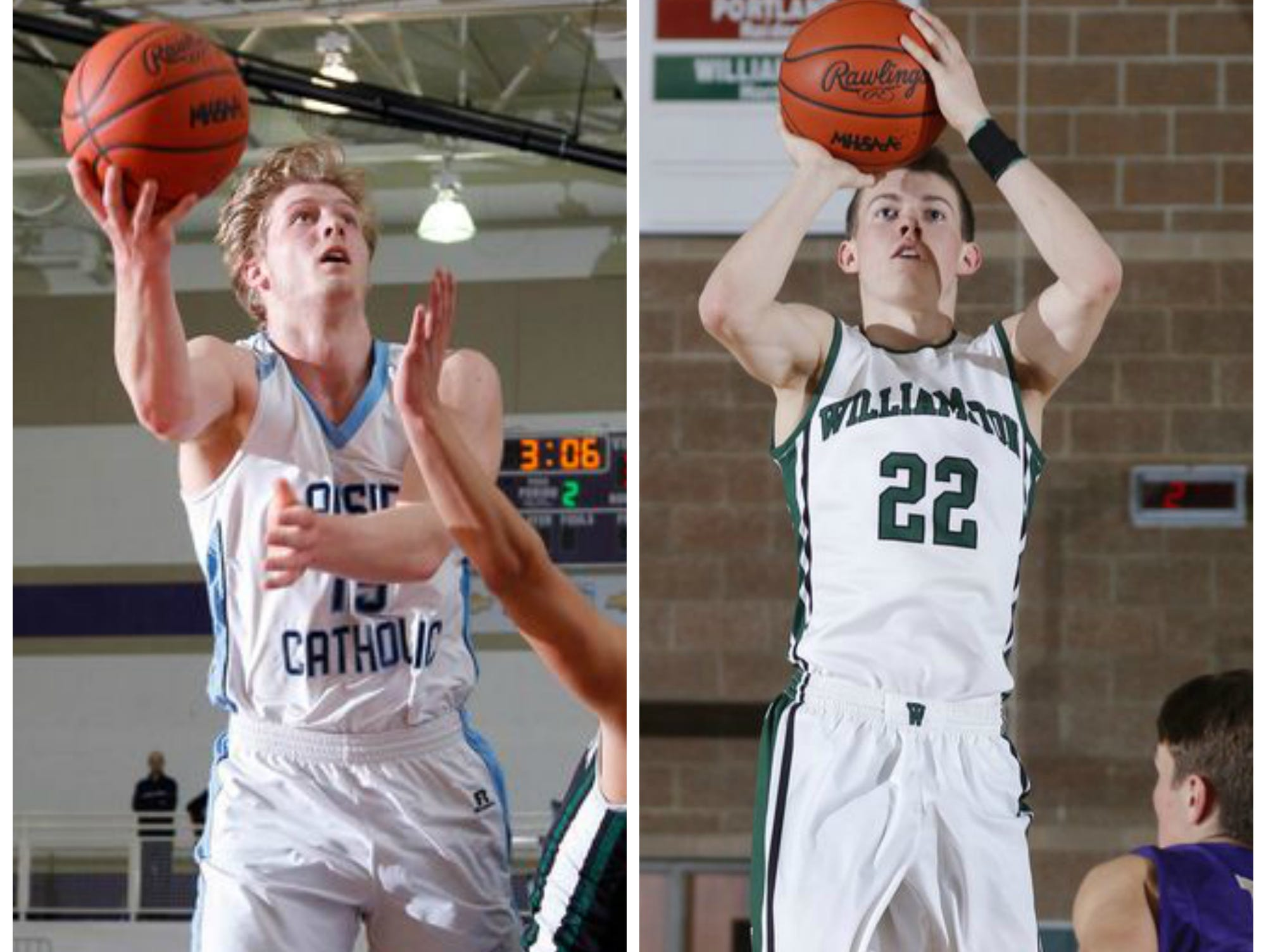 Lansing Catholic senior Tony Poljan and Williamston senior Riley Lewis are part of the Associated Press Class B all-state first team.