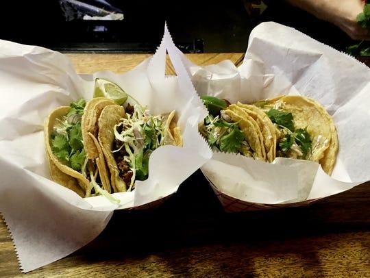 Mas Tacos tacos are all $3 each.