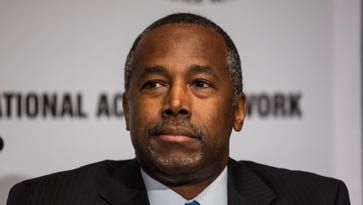 Ben Carson attends the National Action Network national convention in New York on April 8.