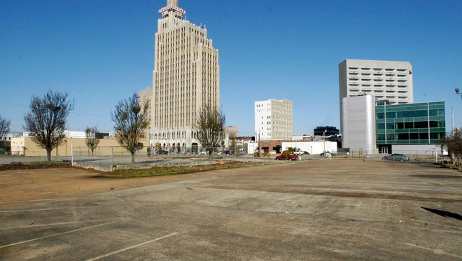 This area across from the Jackson convention complex has been slated to be developed into hotel space for years