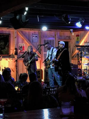 Tom Forst, Andrew Fennell and Jason Gisser of the Jason Gisser Band recently perform at Daryl's House in Pawling.