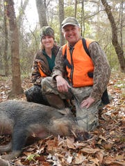 Wild hogs are thought to be contributors to the decline in deer numbers and hunters are encouraged to harvest them at every opportunity.
