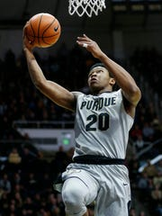 Nojel Eastern of Purdue gets free for a score against IUPUI Sunday, December 10, 2017, at Mackey Arena. Purdue defeated IUPUI 86-61.