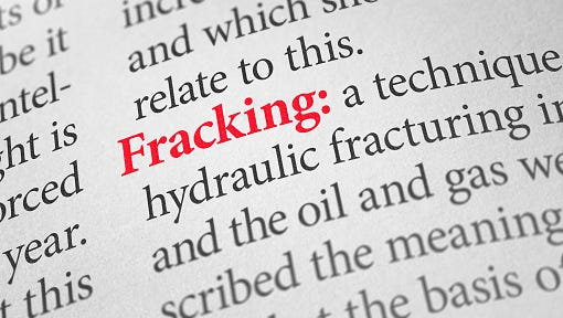 Definition of the word Fracking in a dictionary