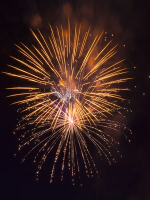Fireworks went off with a bang on Saturday night at Field of Flight Air Show and Balloon Festival.