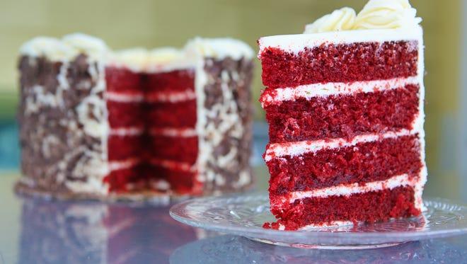 Red velvet cake by Desserts by Helen on Frankfort Avenue. Feb. 4, 2014