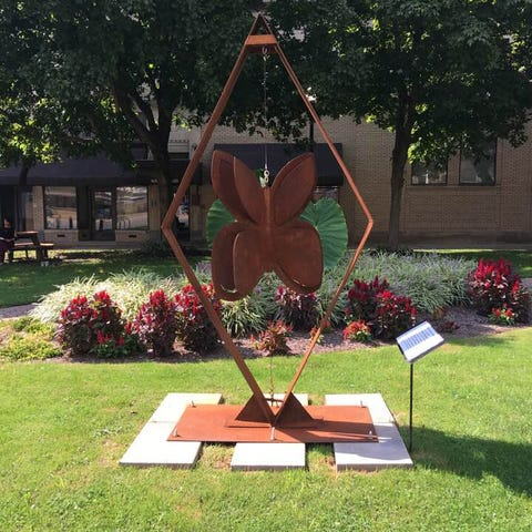This is the Butterfly sculpture in downtown...