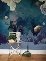 Artist Katje Behre creates ethereal wallpaper designs for her Elli Popp studio that take one on a fantastic journey to faraway places. She's inspired by the stories of Jules Verne.