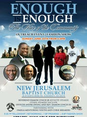 Flyer for a June 24 event titled Enough Is Enough.