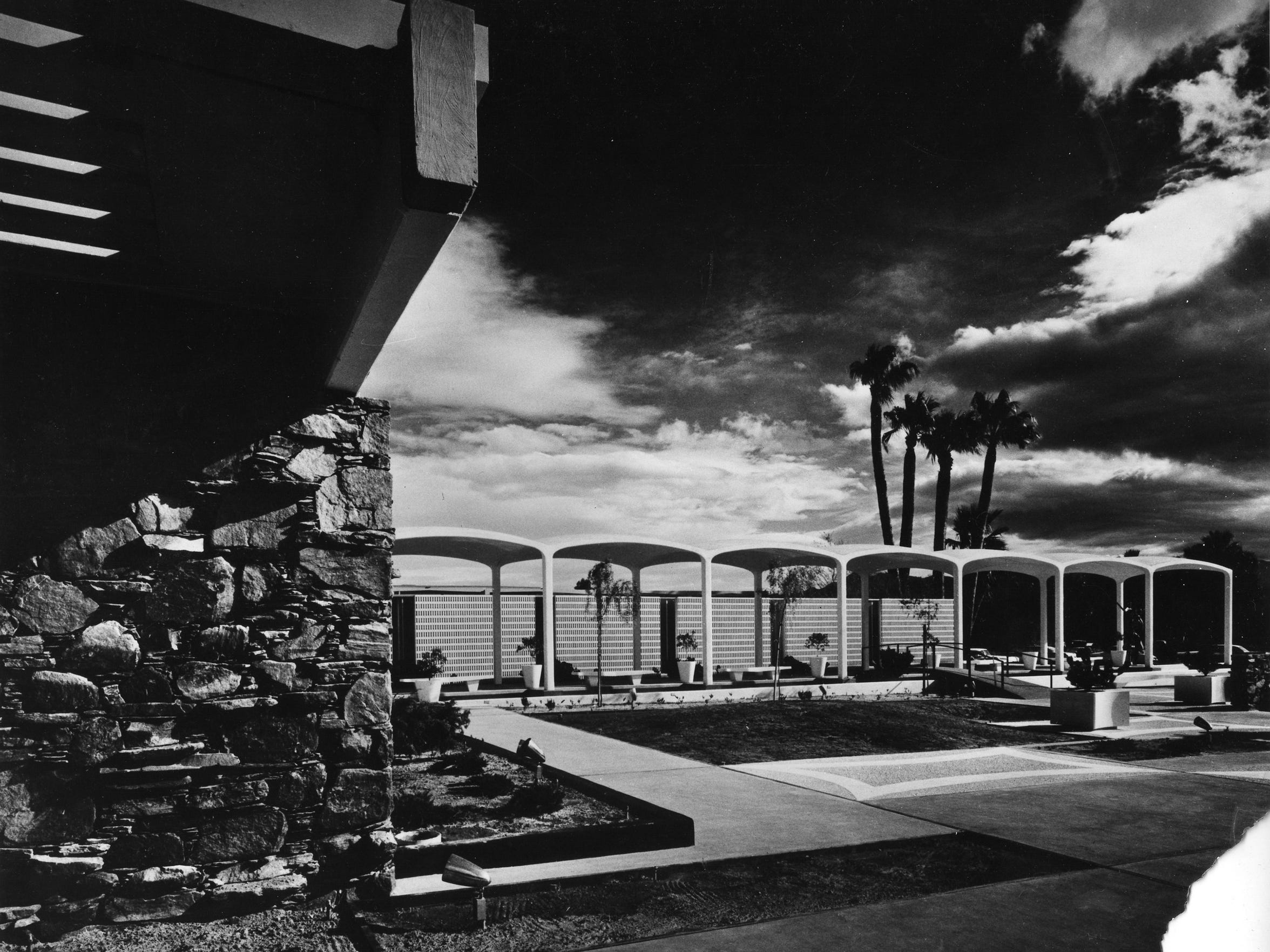 The Palm Springs Spa Hotel, in the 1960s, with the