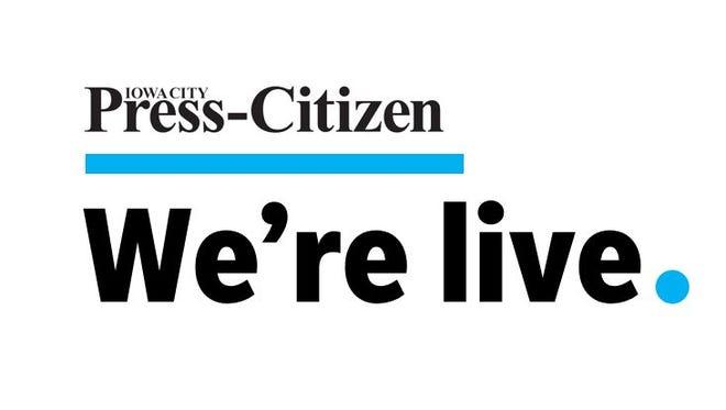 """Press-Citizen's """"We're Live"""" editorial board series."""