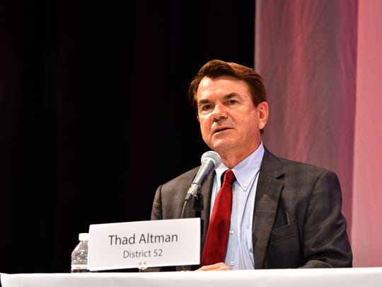 had Altman speaks at the forum. FLORIDA TODAY held