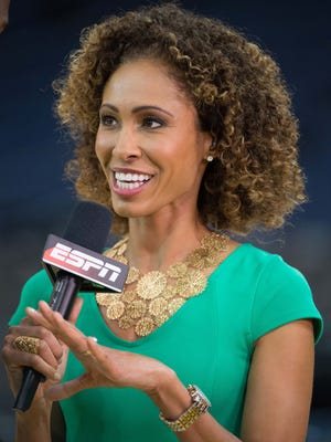 Sage Steele is out as ESPN's host for NBA Countdown and will be replaced by Michelle Beadle.