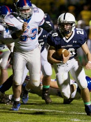 West York's Brock Snellbaker scored three touchdowns Friday as the Bulldogs beat Spring Grove, 42-17, in the District 3 Class AAA quarterfinals. (For the Daily Record/Sunday News -- Mike Zortman)