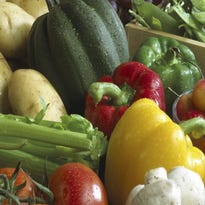 Close-up of various fruits and vegetables