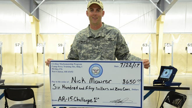 Winning the AiR-15 Challenge Shoot Off for the second consecutive year was Sgt. Nick Mowrer of the U.S. Army Reserve.