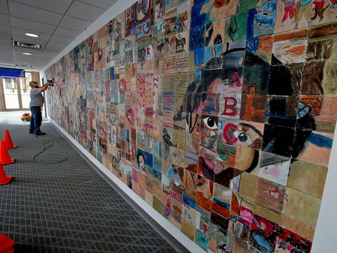 Wall Of Art Added To Skywalk