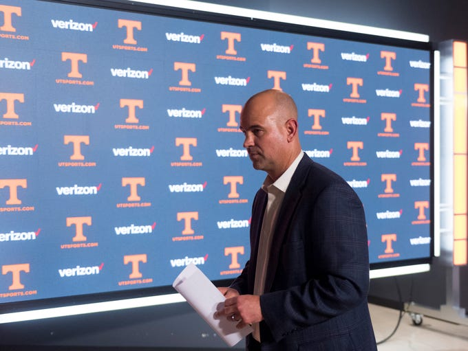 Tennessee head coach Jeremy Pruitt during the Signing
