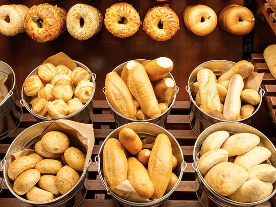 Haggen's bakery offers a selection of bread and bagels.