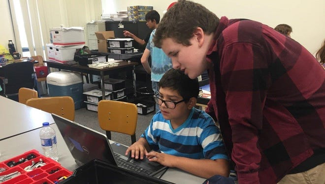 Students learn STEM education at New Mexico State University-Alamogordo. Over 50 students attended the Mindstorm Lego Programming camp last week.
